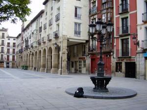 Logroño, verlaten, zonder stok