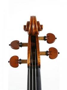 kop van de moderne viool