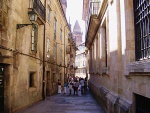 doorgang in Santiago de Compostela