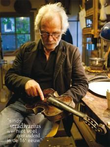 een rijk leven met snaarinstrumenten Hans de Louter,  fotografie Peter Vroon