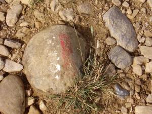 een 'wegwijs' steen