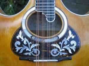 detail lyra-mandoline, foto Cees Baars