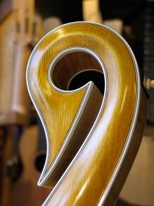 lyra-mandoline, de krul, net een zwanenhals