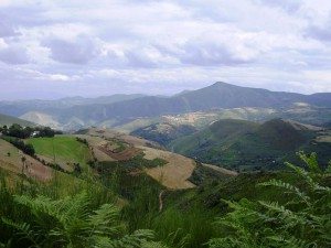 uitzicht over heuvelen