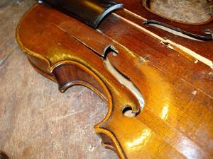 een gecrashte viool