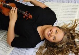 Raphaëlle Siemers met moderne viool